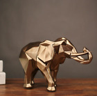 Home Decoration Accessories Elephant Statue Figurine Modern Abstract Geometric