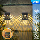 4Pcs Solar Powered LED Bright Deck Lights Outdoor Garden Patio Fence Path Lamp