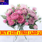 Silk Peony Artificial Fake Flowers Bunch Bouquet Home Wedding Party Decor Bh Au