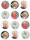 RuPaul Drag Race TV Show Themed 12 x Edible Cup Cake Cupcake Toppers