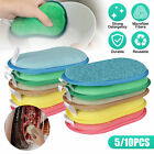 Lot of Kitchen Sponges Scrubber Scourer Microfiber Washing Cleaning Dishe Pad US