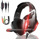 LED Gaming Headset Noise-Cancellation Mic Headphone for Nintendo Switch PS5 PS4