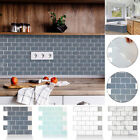 3d Diy Mosaic Kitchen Tile Stickers Bathroom Self-adhesive Home Wall Decor Uk