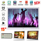 15 Inch HD TFT LED Digital Photo Frame Picture Album MP4 MP3 Movie Music Player