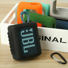 Travel Silicone Case Cover Skin With Carabiner for JBL GO 3 Bluetooth Speaker