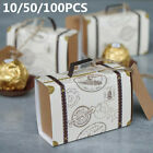 10-100PCS Suitcase Drawer Wedding Party Favour Candy Cake Paper Boxes Gifts