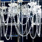 Crystal Ceiling Light Chandelier Spiral Rain Drop Pendant Hanging Lamp N3