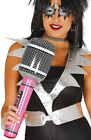 Mens Ladies Inflatable Microphone Prop 70s 80s 90s Music Fancy Dress Accessory