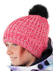 O'Neill Hat Beanie Winter Hat Lilly Pink fur Pompom Silver Threads