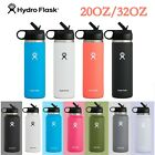 Hydro Flask Water Bottle Wide Mouth 32oz / 20oz , with Straw Lid, 2.0 New Design