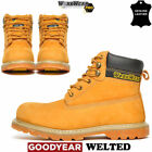 Mens Leather Safety Steel Toe Cap Army Combat Work Ankle Hiker Boots Shoes Size