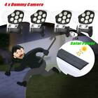 4x Dummy Outdoor Camera Fake Security CCTV Cam Solar Motion Sensor LED Light