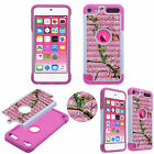 FOR IPOD TOUCH 5 6 DIAMOND BLING RHINESTONE DOUBLE LAYER BOX HYBRID CASE