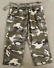 NWT Men's Eddie Domani Desert Camouflage Camo Cargo Pocket Belted Pants BIG SIZE