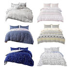 3pcs Comforter Duvet Cover Microfiber Reversible Printed Quilt Cover Bedding Set