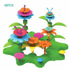 Flower Building Toys for Kid 3-10Y Indoor Stacking Game Pretend Playset Toddler