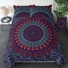 Boho Queen Size Quilt Duvet Cover Mandala Hippie Gypsy Indian Bedding Cover Set