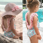Toddler Kids Baby Girl Ruffled Bikini One Piece Beach Swimsuit Bathing Swimwear