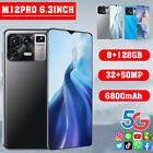 6.3'' Large Drop Screen Android 11.0 M12 Pro Smart Phone Dual Sim Card 8g+128g