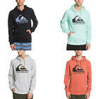 Quiksilver Mens Comp Logo Casual Hooded Pullover Sweatshirt Jumper Hoodie