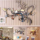 3d Mirror Floral  Acrylic Wall Sticker Removable Mural Decal Home Living Room