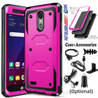 For LG Zone 4/K8 Plus/2018/Risio 3 Case Shockproof Hybrid Rugged Cover Accessory