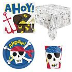 AHOY PIRATE Birthday Party Range - Kids Child Tableware Balloons Decorations