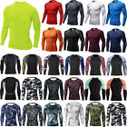 Men Long Sleeve Compression Under Base Layer T-Shirts Gym Sports Joggers Top