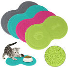 Pet Dog Puppy Cat Feeding Mat Pad Cute PVC Bed Dish Bowl Food Feed Placemat Blue