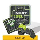 LEVEL UP Birthday Party Range - Computer Gamer Gaming Tableware Decorations