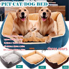 Deluxe Soft Washable Dog Pet Basket Bed Comfortable Dog Bed M-XXXL Pets Cats Bed