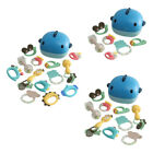 Infant Teether Rattle Shaker Grab Spin Teething Baby Shower Music Toys