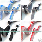 UK Men's Blue Grey Black Necktie Outline Skinny Ties - Buy 1 Get 1 Free BOGOF