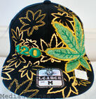 NEW BLACK HIP HOP GANJA LEAF FITTED BASEBALL HAT CAP