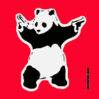 Banksy- Panda with Guns-Red- Graffiti street art