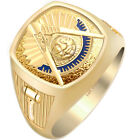0.925 Sterling Silver or Vermeil Masonic Freemason Mason Past Master Ring