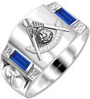 Customizable 0.925 Sterling Silver Gold Masonic Freemason Mason Past Master Ring for sale
