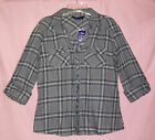 Miley Cyrus Roll Sleeve Plaid Shirt Juniors S, M NWT