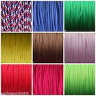 4mm  POLYESTER CORD PIPING LACING CORD ASSORTED COLOURS  AND LENGTHS
