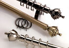 Swish Minster Urn - 28mm Metal Curtain Poles - 5 Sizes - 3 Colours