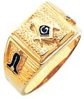 10K or 14K White or Yellow Gold Freemason Masonic Blue Lodge Mason Ring