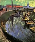 "Vincent Van Gogh- Canal with Women Washing- 20""x26""  Art on Canvas"
