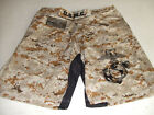USMC MARINES DESERT MARPAT MMA PT S-T-COMP BOARD SHORTS FIGHT SHORTS SIZES S-4XL