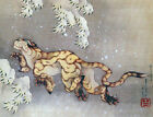 "Tiger in the snow by Hokusai by Katsushika Hokusai - 20""x26"" Japanese Art canvas"