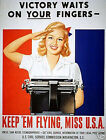 "Keep 'Em Flying Miss USA - 20""x32"" Art on Canvas"
