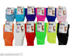 1 Pair Childrens Girls Neon Plain Leg Warmers Dance Gear Kids Fancy Dress