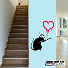 Banksy Rat Painting Heart Reusable Mylar Wall Stencil various sizes available