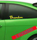 2 x PERSONALISED NAME vinyl car van stickers - ANY TEXT! 25 Colours! - Japan