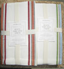 WILLIAMS SONOMA ~YARN DYED STRIPE TABLE RUNNER ~KHAKI/RUST OR BLUE POTTERY BARN