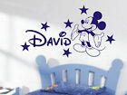 Mickey Mouse Personalised boys bedroom wall sticker kit, loads of colours